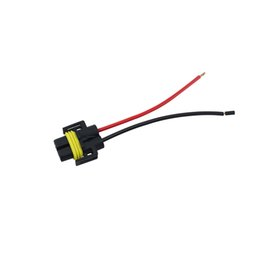 Wholesale Auto Wire Harness Connectors - LEEWA H11 Female Adapter Wiring Harness Sockets Car Auto Wire Connector Cable Plug For HID LED Headlight Fog Lights Lamp Bulb #5454