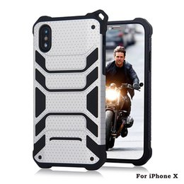Wholesale Dual Layer Armor Case - Hybrid Armor Case For iphone x 8 plus For samsung note 8 s8 plus Dual Layer Protective Cover With opp bags D