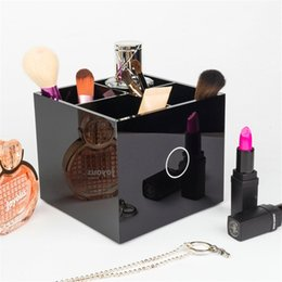 Wholesale Lipstick Display Racks - Display Racks Desktop Lipstick Storage Box Made Of Acrylic Lattice Designed Storages Rack Multi Function Showing Shelf Make Up Boxes 29ly D