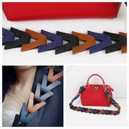 Wholesale bag handle strap - Women Weave Hand bag Shoulder Cross body Colorful Shoulder Strap You PU leather Hot Sell B1048-1