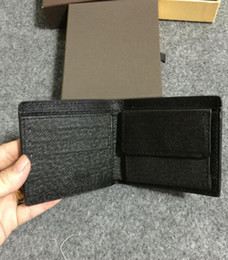 Wholesale Vintage Mens Leather Coin Purse - Promotion new mens leather top Wallet Men Brand Coin Wallet Small Clutches Men's Purse Coin Pouch Short Men Wallet 61665