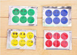 Wholesale Smiley Faces Stickers - Nature Anti Mosquito Repellent Insect Repellent Bug Patches Smiley Smile Face Patches Baby Adult Mosquito Repellent Stickers 6pcs per pack