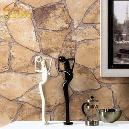 vinyl-ziegel-tapeten Rabatt Klassische Vintage Mosaik Ziegel Stein Rock 3D Vinyl Tapeten Wohnzimmer Schlafzimmer Hintergrund Wohnkultur PVC Tapete Wandmalerei
