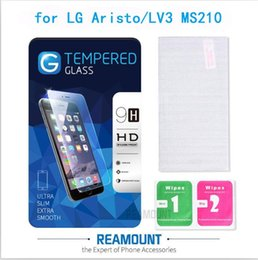 Wholesale Class Protector - 9H Tempered Glass Clear Front Screen Protector for LG Aristo LV3 MS210 Toughened Protective Film with Cleaning Tool + High Class Packaging