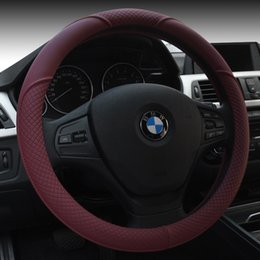 Wholesale New Leather Steering Wheel Cover - New sports car steering wheel set of microfiber leather honda leather steering wheel cover gm to set auto supplies