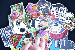 Wholesale Skateboard Room Decor Wall Stickers - 100 PCS Random DIY stickers posters wall stickers for kids rooms home decor sticker on laptop skateboard luggage wall decals car sticker