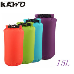 Wholesale Dry Bag 15l - Wholesale-15L 8 Colors Dry Bag Sack Waterproof Bags Drifting Storage Outdoor Travel Bag For Boating Fishing Rafting Swimming Camping