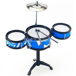 Wholesale Drum Novelty Gifts - New Baby Toys Jazz Drum For Kids Musical Instrument Set Children Percussion Novelty Mini Drum Set Christmas Gift Music Educational Toy
