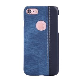 Wholesale Denim Phone Cases - Fashion Jean Denim Style Case For Iphone7 7 Plus Retro Cowboy Canvas Pattern Hard PC Back Cover For Samsung Galaxy S6 S7 Phone Cases Shell