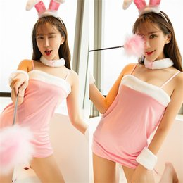Wholesale Girls Underwear Sex - Lingerie sexy hot erotic cosplay Christmas rabbit for girls suits sexy costume underwear babydoll dress sex pajamas bunny girl
