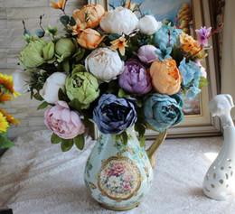 2019 paeonia suffruticosa Peonia stile europeo Paeonia suffruticosa 13 fiori grande fiore fiore artificiale fiori di seta 11 tipi di fiore decorano paeonia suffruticosa economici