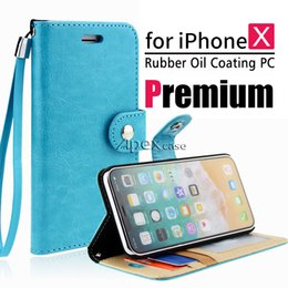 Wholesale x photos - Premium Quality Retro PU Leather Wallet Cases for iPhone X 8 7 Note 8 Wallet Back Cover Pouch With Card Slot Photo Frame
