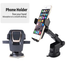 Wholesale Easy Note - New Easy One Touch Car Mount Universal Phone Desk Windshield Cup sucker Holder for iPhone X 8 7 Plus Galaxy S8 Note 8 DHL free OTH657