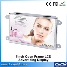 Wholesale open videos - Wholesale- 7 inch 1024 x 600 Resolution Open Frame Metal shell Mini Digital Signage 16:9 TFT LCD Advertising Player