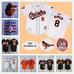 Wholesale Baltimore Orioles Jersey Xl Black - Cal Ripken Jersey 2001 Baltimore Orioles Jerseys Flexbase Cool Base Cooperstown Throwback Vintage Home Away White Black Orange