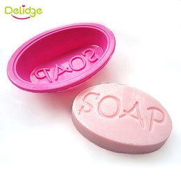 """Wholesale Silicone Soap Wedding Mold - 1pc Hot Sale """"Soap"""" Word Silicone Soap Mould DIY """"Soap"""" Word Pattern Cookie Chocolate Handmade Jelly Pudding Candy Mold"""