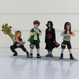 Wholesale Neji Figure - New arrival 4pcs lot Gaara naruto Uchiha Itachi Hyuga Neji 10cm PVC Figure Toys Free shipping