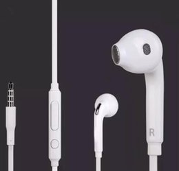 Wholesale Earphones Without Mic - New S6 Headphones Earphone Earbuds Headset for 3.5mm In Ear wired Earphones With Mic Volume Control White Without Retail Box