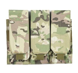 Wholesale Molle Tool Pouch - Outdoor Molle Tactical Triple Pouch Tool Dump Drop Bag Attact Vest
