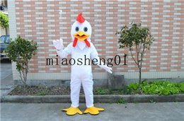 Wholesale Chicken Mascot Costumes - 2017 high quality nifty white chicken unisex Christmas costumes for Halloween party cartoon mascot adult size
