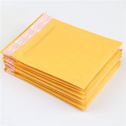 Wholesale Film Bubbles - Wholesale- 10 Pcs   Pack 130 * 130mm Yellow Kraft Paper Bubble Film Packaging Delivery Envelope Bag