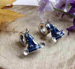 Wholesale Santa Bead Cap - S925 925 Sterling Silver beads Silver Santa cap Christmas Hat Charm Big Hole Beads Dangle Fit European Bracelets 2017 Style
