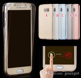 Wholesale Galaxy Lite - 360 Degree Coverage Full Body Soft TPU Case For Samsung Galaxy S8 S9 Plus 2017 J7 J3 Prime LG G6 Huawei P20 PRO P8 Lite 2017 P10 Skin Cover