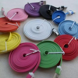 Wholesale Iphones Mobile Phones - HOT micro usb charger cable 1M 2M i phones charger for mobile phone iphones 5 6 6 Plus Samsung