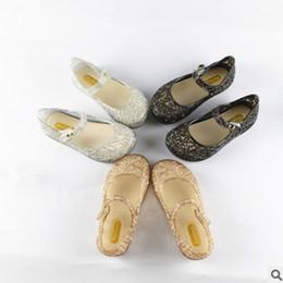 Wholesale Kids Slippers New - Girls Glass slipper shoes summer new kids hollow flat heels jelly sandals children princess dance shoes kids beach sandals 24-29 T3877