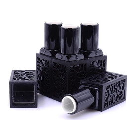 lipstick makeup tools lip balm Promo Codes - 200pcs Empty Lipstick Tube, Black Hollow Style Lip Balm Bottle, Square Makeup Tool, High Grade Women Cosmetic DIY Container