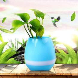 Wholesale Types Flower Pots - Creative intelligent Music pots Will sing the music pots Bluetooth audio lovely mini Flower pot type speaker Subwoofers