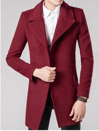 Wholesale Qiu Dong Man - Men qiu dong han edition of the new trend of the leisure fashion trench coat lapel single-breasted cloth of England   M-2XL