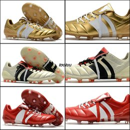 Wholesale Volleyball Spike - New Soccer Cleats Predator Mania Champagne FG Mens Football Boots 2017 Soccer Shoes High Quality Outdoor Sports Soccer Boots Black Gold red
