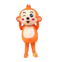 Wholesale Monkey Adult Mascot - Orange Monkey One Mascot Costumes Cartoon Character Adult Sz 100% Real Picture