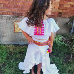 Wholesale Irregular Clothing Wholesale - Girls Tutu Skirt Kids Clothing 2017 Summer Irregular Swallow Tail Skirt Europe and America Fashion Skirt HX-327