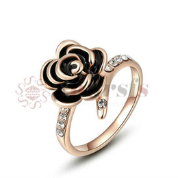 Wholesale Fine Online - Yoursfs Gold 585 New Design Rose Flower Wedding Rings For Women Romantic Fine Crafted Engagement Bague Femme Online Shopping India
