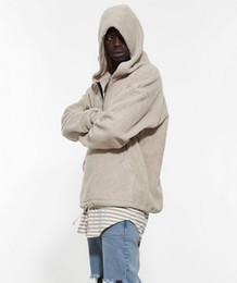 Wholesale Half Clothing - Wholesale- Men's Half Zipper Pullover Fleece Sherpa Hoodie Streetwear Cool Kanye West Fashion Hip Hop Urban Clothing Justin Biebers Tyga