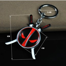 Wholesale Classic Cars Souvenir Gift - Brand New Anime Deadpool Keychain For Men Trinket Llavero Car Keyring Weapon Key Chain Ring Chaveiro Jewelry Gift Souvenirs