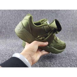 Wholesale Ties Sale Cheap - 2017 hot sale Wholesale Hot Cheap New Summer X Fenty Bandana Slide Sneakers Shoes Bow Tie Rihanna Sneakers Sports Shoes 36-40