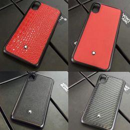 Wholesale Iphone Border Cases - Luxury brand leather texture phone case for iphone X 7 7plus 8 8plus soft border phone shell back cover for iphone 6 6S 6plus