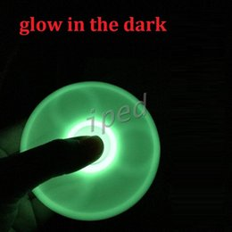 Wholesale Spinning Glow Toys - Cheapest Luminous Hand Spinner Fingertips Spiral Fingers Gyro Torqbar Fidget Spinner Glow In Dark Tri Spinner spinning Decompression Toys