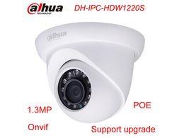 Wholesale Wired Cctv Dome Cameras - Original Dahua IPC-HDW1220S Network IP Camera 1.3MP HD POE IR Upgradable CCTV Dome Camera free shipping