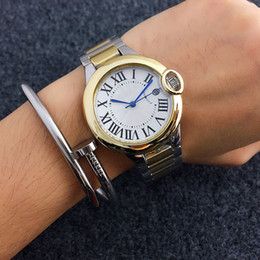 Wholesale Best Gold Watches For Men - Unisex Fashion watches men women luxury brand Designer Rome dial Automatic date Stainless Steel band Quartz watch For mens Ladies best gift