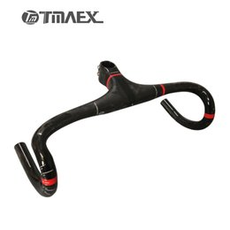 Wholesale Cycling Handlebars Stem Carbon - TMAEX-PRO Super light Full Carbon Integrated Road Bicycle Handlebar Road Carbon Handlebar With Stem Cycling Bike Parts 275G