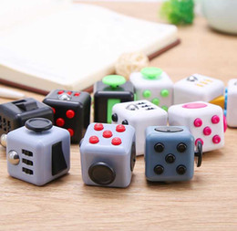 Wholesale Wisdom Kids Toys - 100pcs lot 11 colors novelty Fidget Cube stress relief toys for kids and adults Decompression stress balls wisdom development toy DHL Free