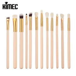 Wholesale Face Hairs - 12pcs Rose Eye Make-Up Brushes Makeup Brushes Set Eyeliner Face Foundation Blush Lip Liquid Cream Powder Cosmetics Blending