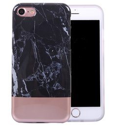 Wholesale Iphone Glossy Case - Electroplated Marble Flexible Soft TPU Case Cover with Fabulous Glossy Pattern for iPhone 7 6s 6 plus Opp Bag