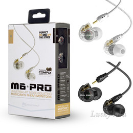 Wholesale Ear Phones Colors - MEE Audio M6 PRO Noise Canceling 3.5mm HiFi In-Ear Monitors Earphones with Cables Sports Wired Headphones 2 Colors with retail box