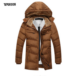 Wholesale Men S Winter Fashion Trends - Wholesale- Men's hooded jackets winter parka coat fashion trend plus thick velvet solid color cotton