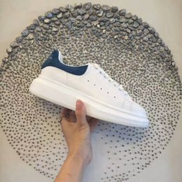 Wholesale Pink 38 - [With Box] Luxurious Designers Arena Sneakers Shoes Full-Grain Leather Men's Brand Casual Walking Flats Shoes 38-46 Free Shipping 35-44